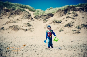 Dylan at Balmedie beach